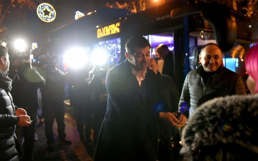 თბილისს საჩუქრად MAN-ის ახალი ავტობუსი გადაეცა
