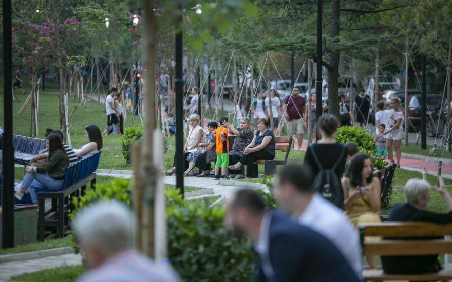 გლდანის განახლებული პარკი საზეიმოდ გაიხსნა