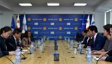 შეხვედრა აბრეშუმის გზის საერთაშორისო სავაჭრო პალატის თავმჯდომარესთან