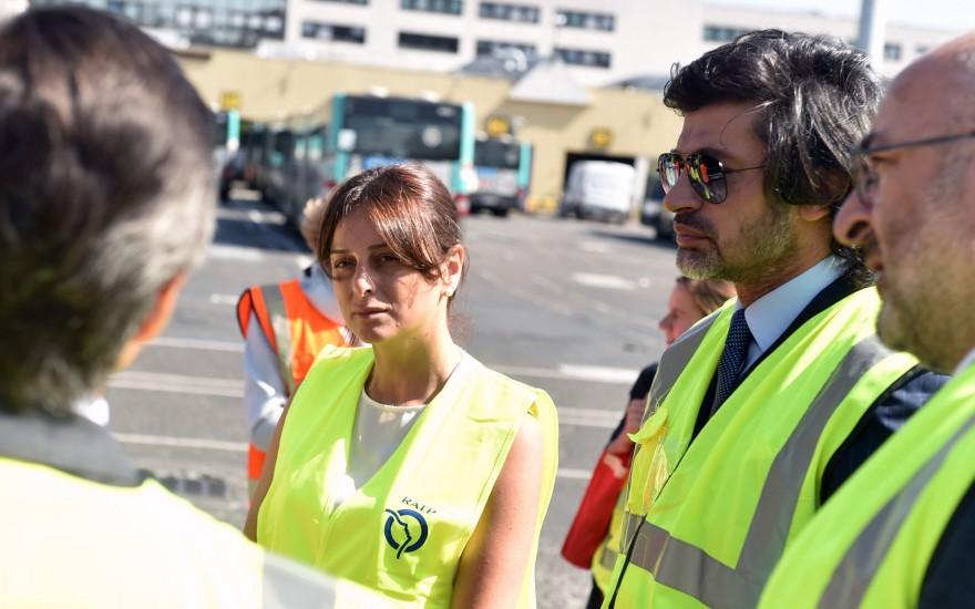შეხვედრა პარიზის ტრანსპორტის მმართველი კომპანიის პრეზიდენტთან